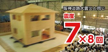 阪神大震災クラス耐震実験